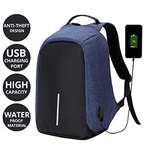 6eeb93ef8a7 AllExtreme EXATBP1 Anti Theft Laptop Bag 14 Inch Water Resistant Office  Backpack with USB Charging Port (Blue) - Buy AllExtreme EXATBP1 Anti Theft  Laptop ...