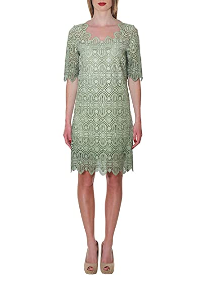 Ermanno Scervino Vestido - para mujer verde Talla de la marca 50   Amazon.es  Ropa y accesorios a73cf4ced23b