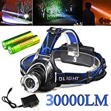 3000LM Ultrafire CREE T6 LED Headlamp Zoomable Flashlight&18650 Battery+Charger