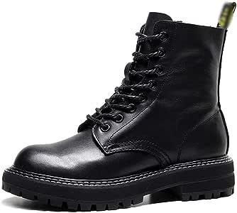 Retro Handgemaakte Leren Motorlaarzen,Goed Ademend Vermogen,Transpiratie En Deodorant, Herfstveters Damesschoenen Martin Boots,Black,40