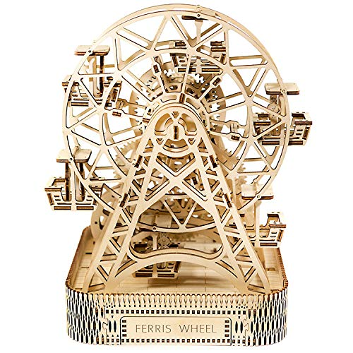WOODEN.CITY Wooden Mechanical model Ferris Wheel