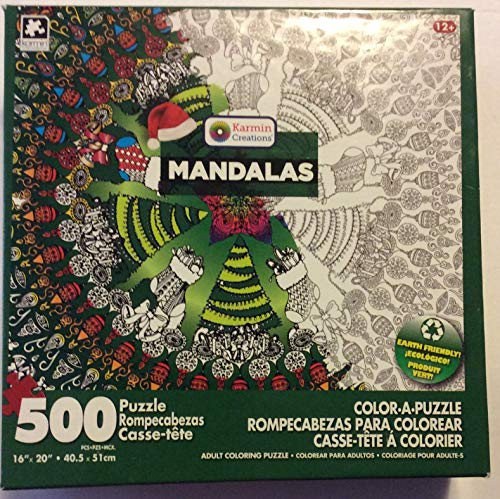 (Christmas Color a Puzzle Mandala Design. Stockings, Trees, and Ornaments Pattern. Great Gift or Family time Fun! 500 Pieces to Create and Custom Color How You Wish. by Karmin International)