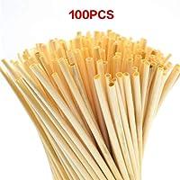 Strohhalme wiederverwendbar, aus Bambus   Trinkhalme Cocktail   Öko Strohhalme   100 Stück