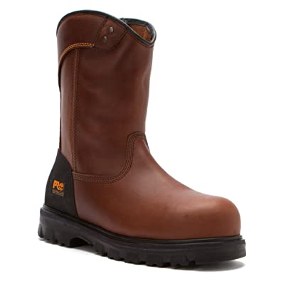 Timberland Men's Boomtown Wellington Safety Toe Brown Boot 5 EE - Wide