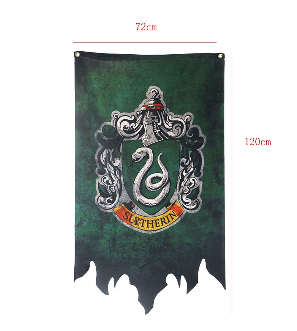 Gryffindor Slytherin Ravenclaw Hufflepuff House Flaggen Collection Slytherin Harry Potter Banner