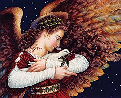 Springbok Puzzles - Angel and Dove - 1000 Piece Jigsaw Puzzle - Large 24 Inches by 30 Inches Puzzle - Made in USA - Unique Cut Interlocking Pieces