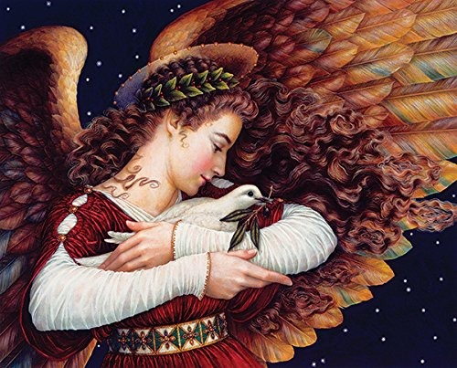 Angels Puzzle - Springbok Puzzles - Angel and Dove - 1000 Piece Jigsaw Puzzle - Large 24 Inches by 30 Inches Puzzle - Made in USA - Unique Cut Interlocking Pieces