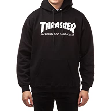 Amazon.com  Thrasher Skate Mag Hoodie - Black  Clothing 3870a4e13