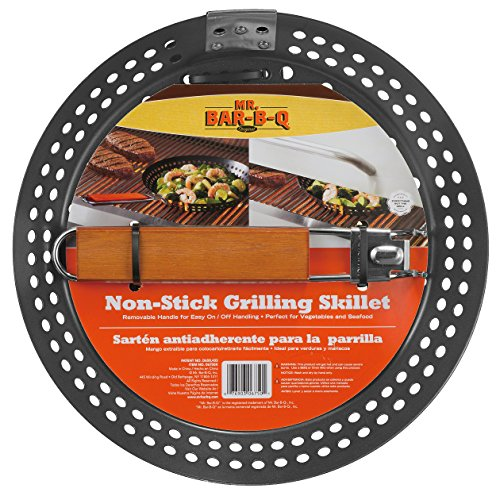 Camp Cooking Tips And Tricks - Use the right camp cooking tools like this Mr. Bar-B-Q 06750X Non Stick Grilling Skillet with Removable Handle