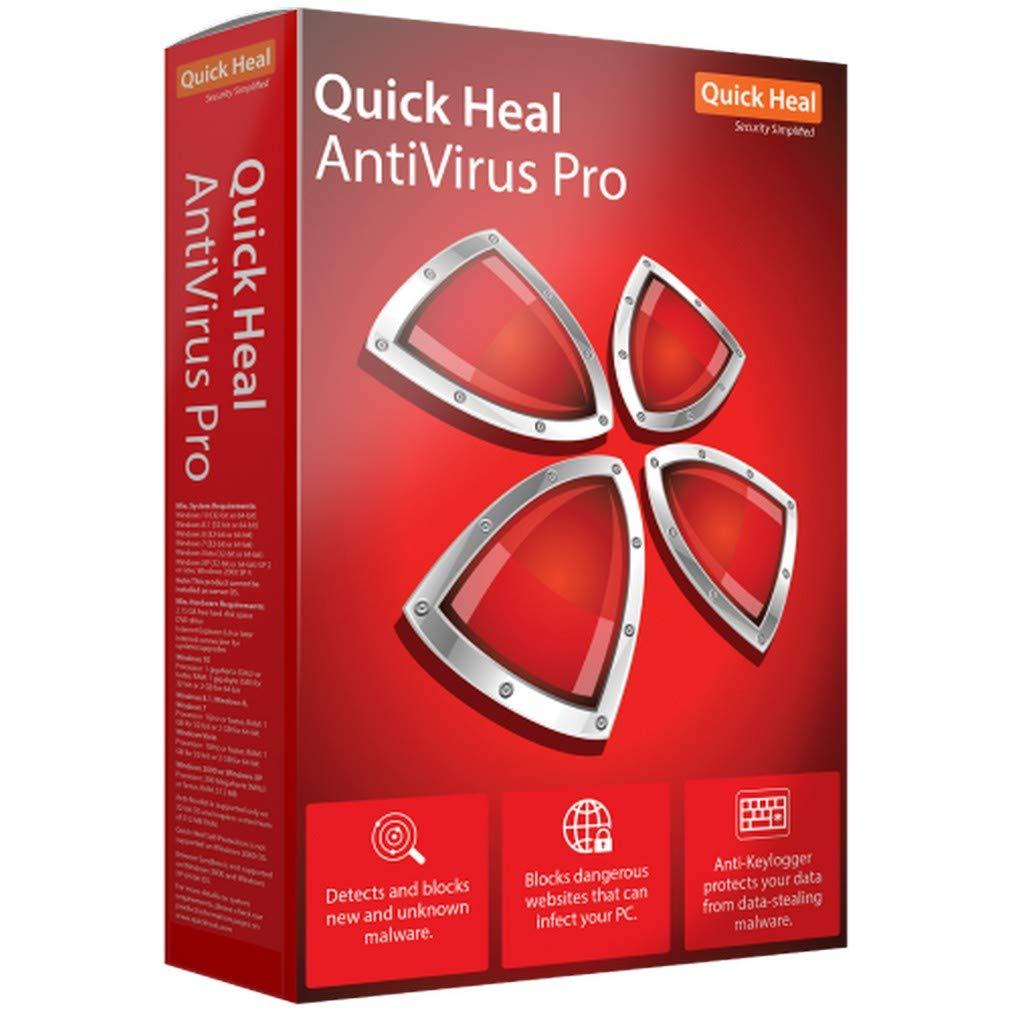 Quick Heal Antivirus Pro 1 Pc 3 Year Cd Dvd Software Anti Malware