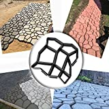 patio maker - WOVTE DIY Walk Maker Concrete Stepping Stone Mold Garden Lawn Pathmate Stone Mold