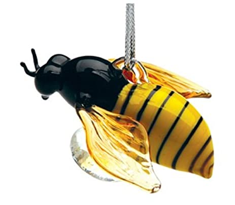 Lampwork Honey Bee Glass Ornament