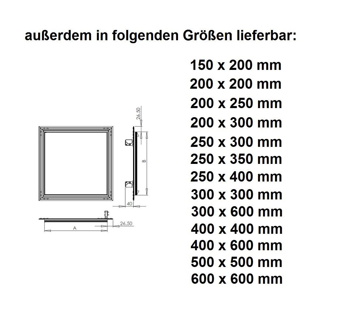 Revisionsklappe GK-Einlage 200 x 300 mm Gipskarton 12,5 mm KRAL4 Revisionst/ür Revision Wartungst/ür 20 x 30 cm Wartung Reinigungsklappe Wartungs/öffnung mit Aluminium-Rahmen Feuchtraumgeeignet gr/ün Trockenbau