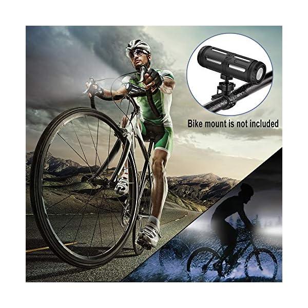 Enceinte Bluetooth Portable, avec Lampe Torche LED, 5200mAh Powerbank, 30H en Lecture, Basses Puissantes, IPX67 Waterproof, Mains Libres Téléphone, Enceintes Bluetooth sans Fil pour Camping, Cyclisme 6