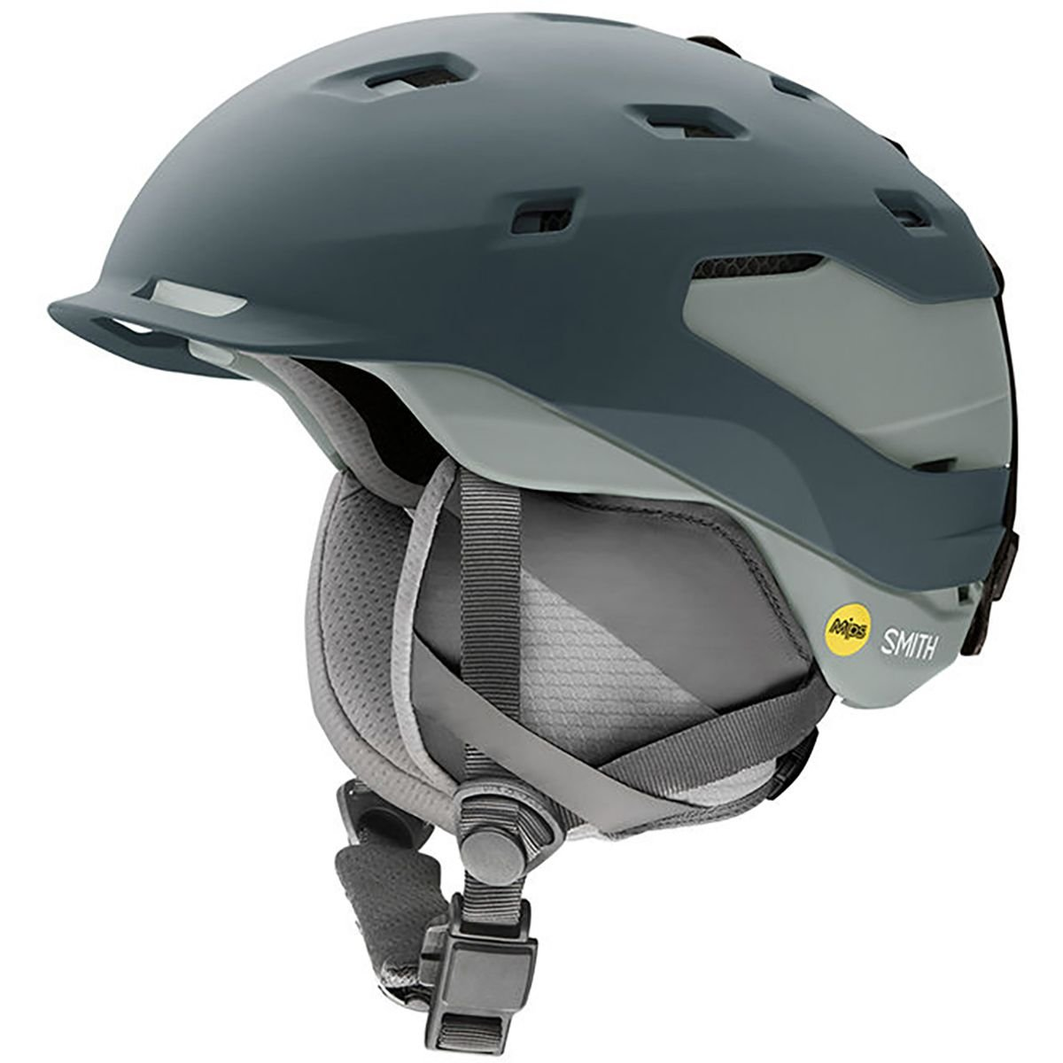 Smith Optics Quantum Adult Mips Ski Snowmobile Helmet - Matte Thunder Gray / Medium by Smith Optics