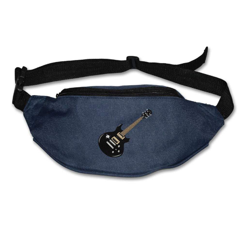 Waist Purse Cool Guitar Black Unisex Outdoor Sports Pouch Fitness Runners Waist Bags