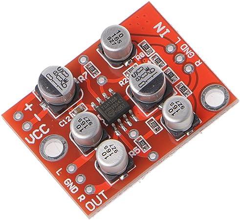 DC 5-15V AD828 Stereo-Vorverstärker-Leistungsverstärkerplatine Vorverstärkerplat