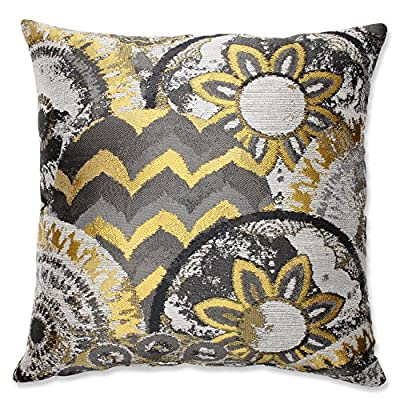 Pillow Perfect Glory Throw Pillow, 16.5-Inch, Dusk - Includes one (1) decorative throw pillow; suitable for indoor use Plush Fill - 100-percent polyester fiber filling Edges of decorative pillow are knife edge - living-room-soft-furnishings, living-room, decorative-pillows - 61FXj71UXWL. SS400  -