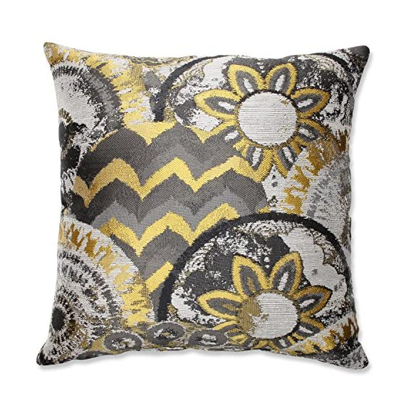 Pillow Perfect Glory Throw Pillow, 16.5-Inch, Dusk - Includes one (1) decorative throw pillow; suitable for indoor use Plush Fill - 100-percent polyester fiber filling Edges of decorative pillow are knife edge - living-room-soft-furnishings, living-room, decorative-pillows - 61FXj71UXWL. SS570  -