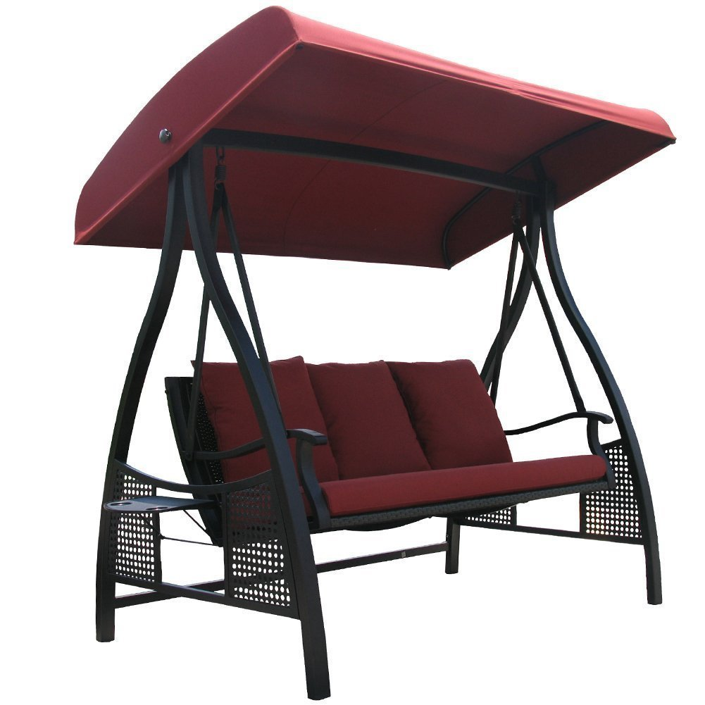 or garden top treasures shop swing for steel canopy with pd replacement person brown glider porch tan