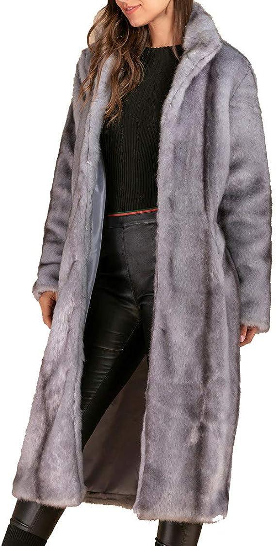 JESPER Womens Lady Faux Fur Vest Warm Sleeveless Outwear for Fall and Winter Plus Size Fluffy Fur Jacket Black