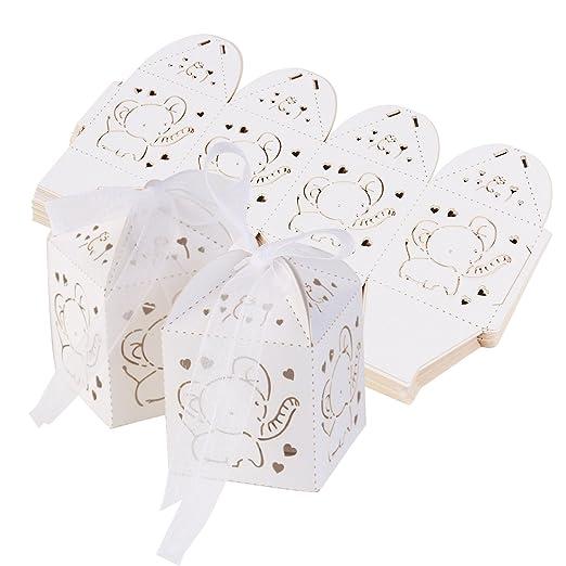 ultnice 50 unidades boda cajas de regalo boda Bautizo invitados regalo Cajas Baby Fiesta Cumpleaños