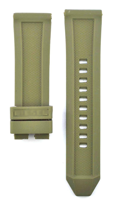 24 mm Diver Rubber suitable for Rasp dz1807 Ironside dz4388 Rasp dz1806 Ironside dz4391ウォッチバンドストラップ 24mm ブラック B074THXHW8