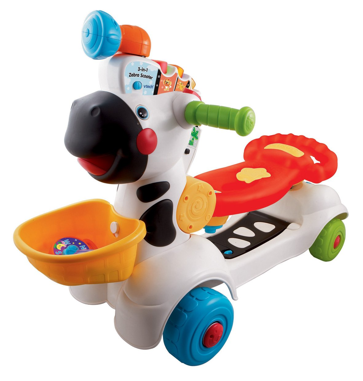 vtech 3 in 1 zebra scooter multi coloured amazon co uk toys games rh amazon co uk Bounce and Spin Zebra Recall Turn and Bounce Zebra