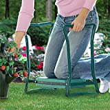 Garden Kneeler And Seat – Protects Your Knees, Clothes From Dirt & Grass Stains – Foldable Stool For Ease Of Storage – EVA Foam Pad – Sturdy and Lightweight – Comes With A Free Tool Pouch!