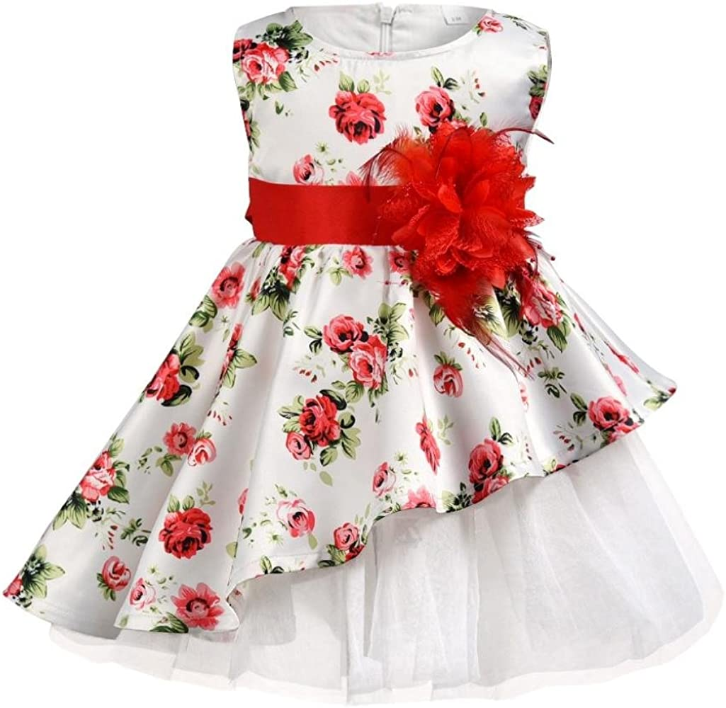 Festliches Mädchen Kleider, Longra Baby Kinder Mädchen Ärmellos
