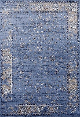 3536 Distressed Blue 5 x 7 Area Rug Carpet Large New