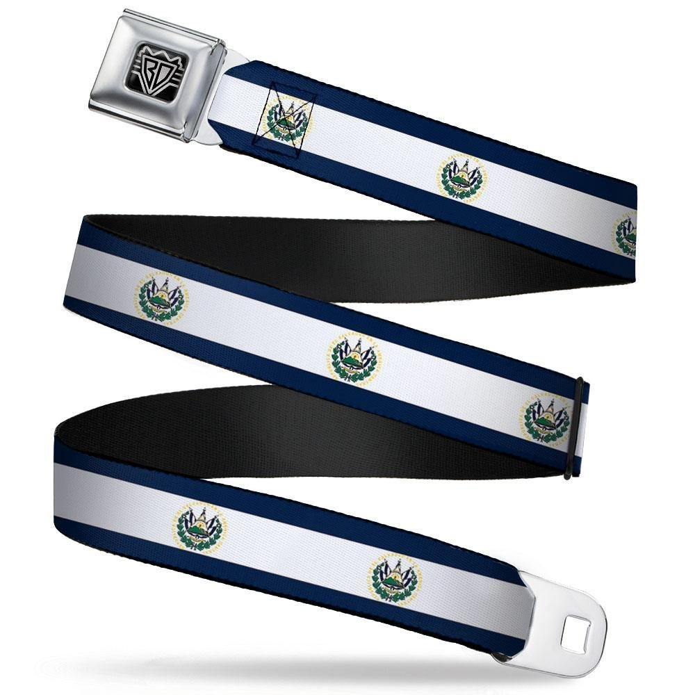 24-38 Inches in Length Buckle-Down Seatbelt Belt 1.5 Wide El Salvador Flag