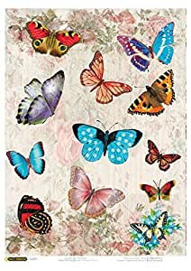 Amazon.com: Rice Paper for decoupage. Bright Butterflies