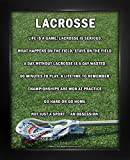 "Framed Lacrosse Male Stick 8"" x 10"" Sport Poster Print"
