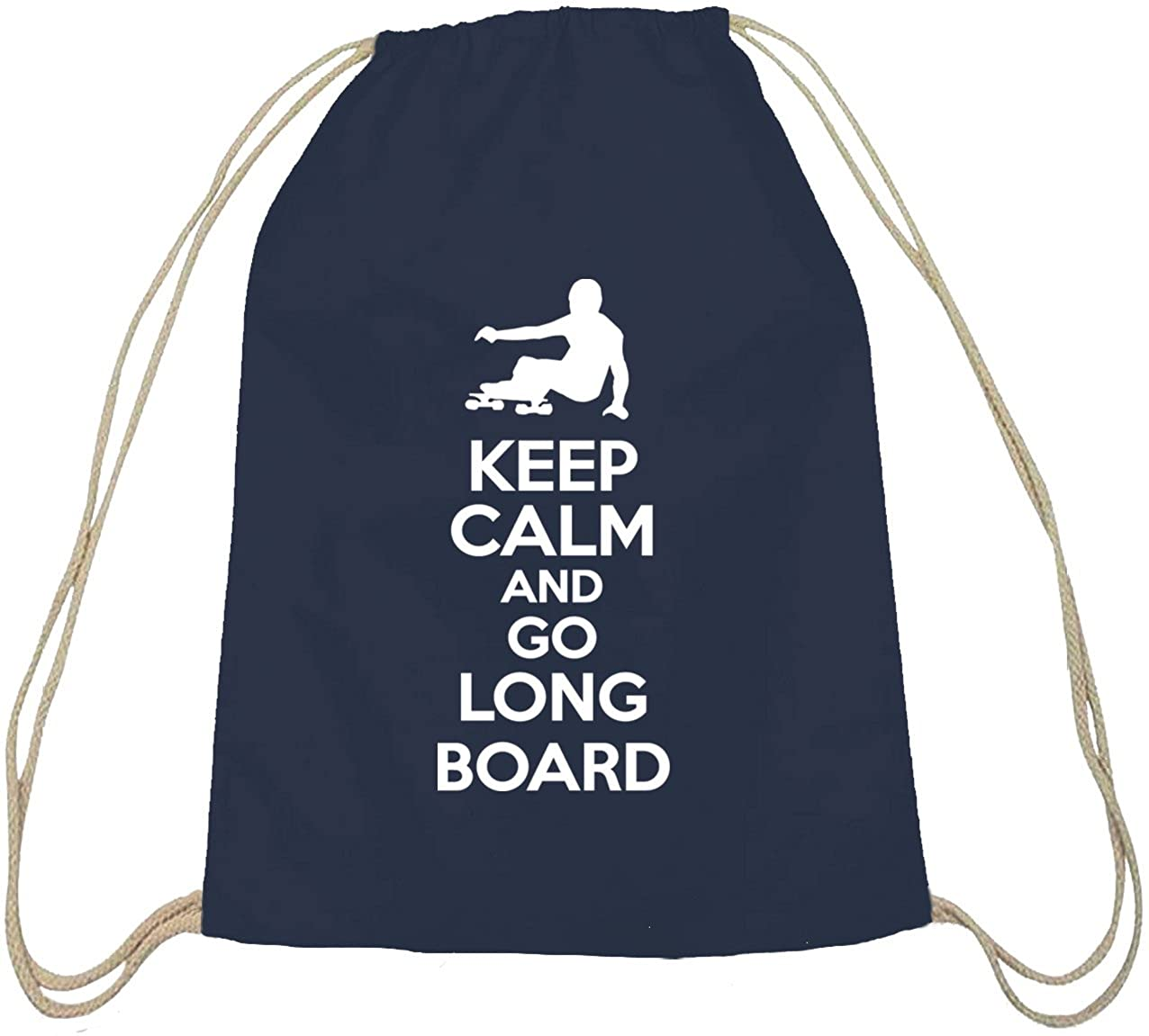 Shirtstreet24 keep calm and go skateboard longboard-coton nature sac de sport et sac /à dos