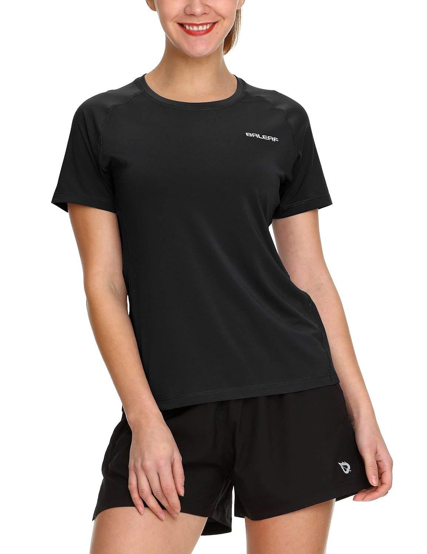 c315feca4b Amazon.com  Baleaf Women s Running Shirts Short Sleeve Athletic Tops   Sports   Outdoors