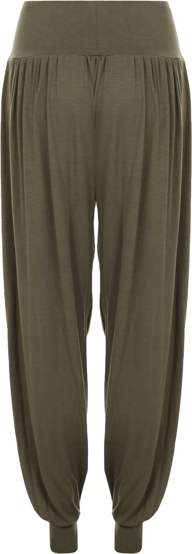 Da Donna Taglie Forti Pantaloni Harem Donna Lunghezza Piena Elasticizzato Pantaloni Casual Formati 12-26