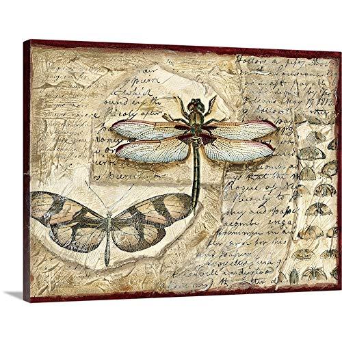 Poetic Dragonfly I Canvas Wall Art Print, 40