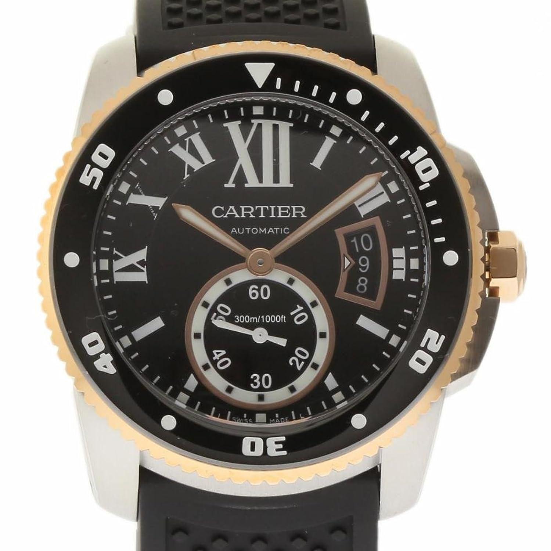 カルティエCalibre de Cartier swiss-automaticメンズ時計w7100055 (認定pre-owned ) B01N4LDZDH