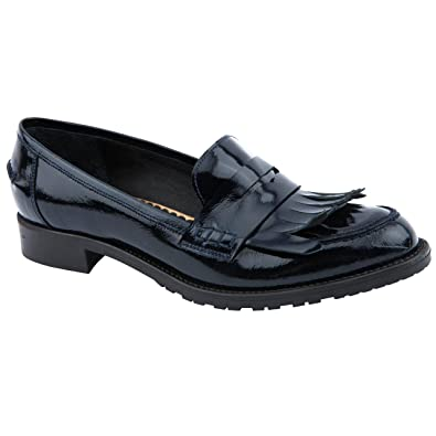 a553babfa65 Ladies Jones Bootmaker Giacinta Navy Patent Loafers Size 8  Amazon ...