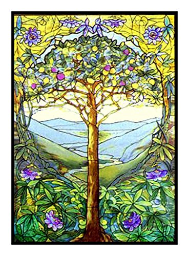 Tree of Life by Louis Comfort Tiffany Counted Cross Stitch Pattern Tree Cross Stitch Pattern