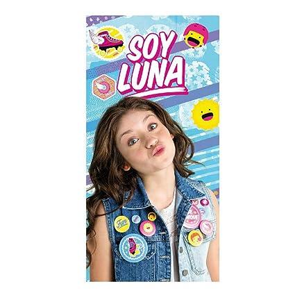 takestop Toalla Toalla Soy Luna Disney niña para niñas Multiusos Playa Cuna coprilettino Piscina Playa 70