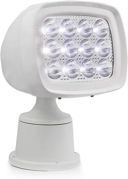 Set of 2 White Spreader LED Deck//Marine Lights for Boat Spot Light 12-30V 18W