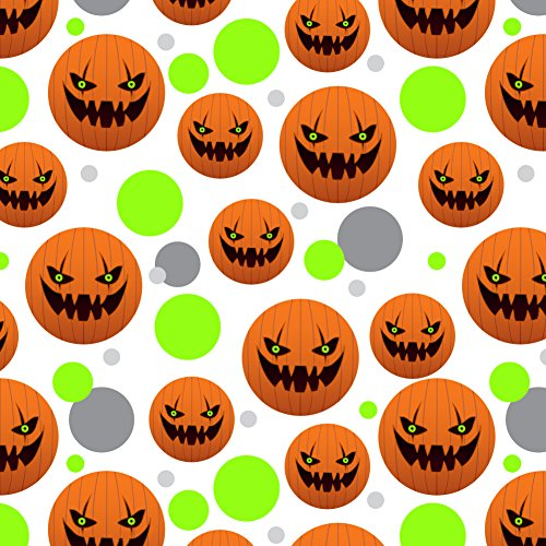 GRAPHICS & MORE Jack-o'-Lantern Pumpkin Face Halloween Decoration Premium Gift Wrap Wrapping Paper -