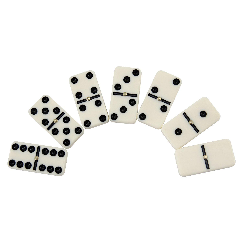 Amazon.com: Dominoes Set, Kictero Set of 28 Double Six Dominos Game ...