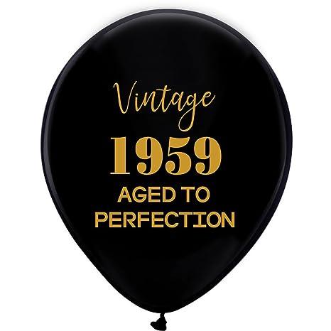 Amazon.com: Globos negros vintage 1959 - 12 pulgadas (16 ...
