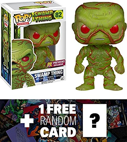 Swamp Thing (PX Exclusive): Funko POP! Heroes x DC Universe Vinyl Figure + 1 FREE Classic Movie Trading Card Bundle (New Funko Pop Supernatural)