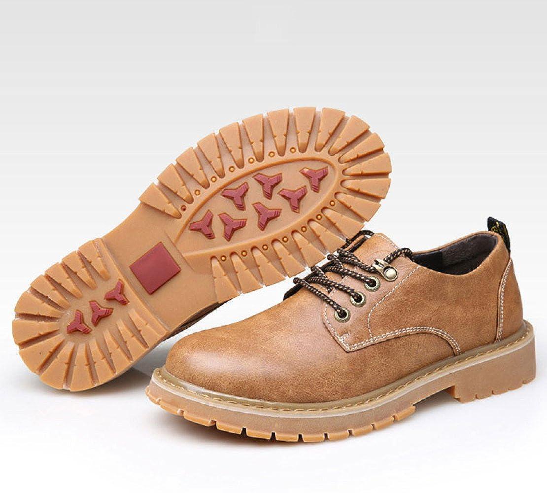 LEDLFIE Herren Lederschuhe Freizeitschuhe Freizeitschuhe Freizeitschuhe Vintage Arbeitsschuhe Martin Short Stiefel 73c841