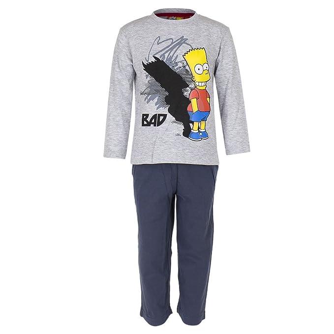 Simpsons - Pijama dos piezas - para niño gris gris