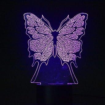 Wangzj 3D Ilusión óptica Mesa de escritorio Lámpara de luz Luces ...